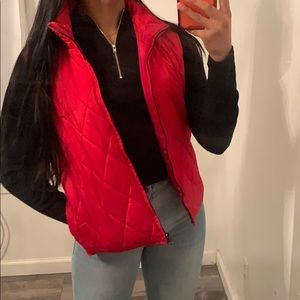 The Limited Bright Red Vest Jacket
